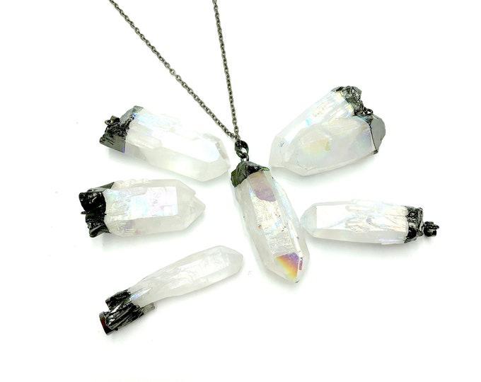 MAGIK: titanium aura quartz necklaces