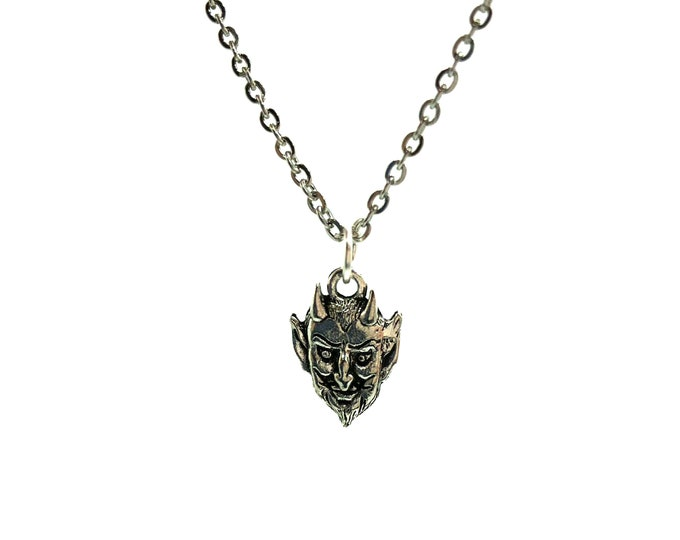 DEVILISH: delicate stainless steel devil necklace