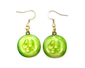 CUCUMBER: cool as a cuke earrings