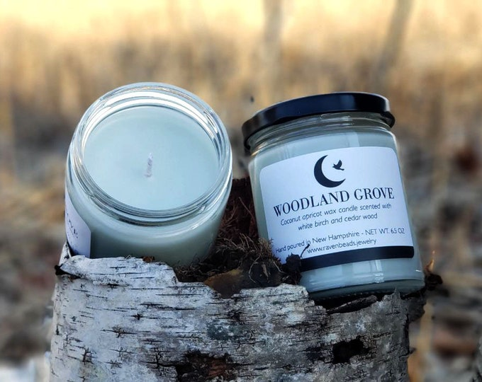 WOODLAND GROVE: white birch and cedar wood candle