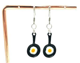 EGG: fried egg drop earrings