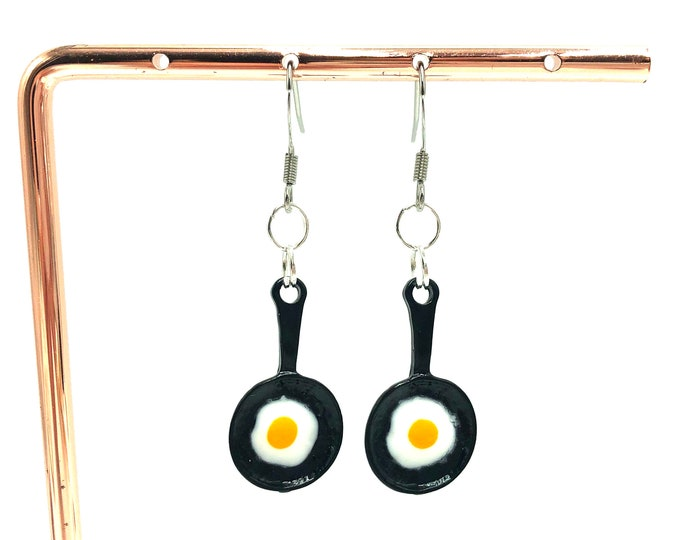 EGG: fried egg drop earrings
