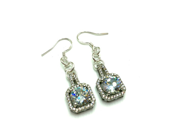 MARIAH: glitzy cubic zirconia earrings
