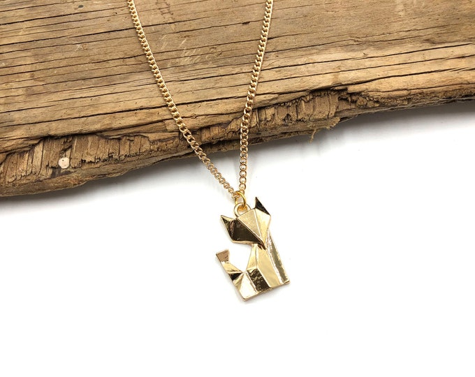 GEO FOX: gold tone necklace