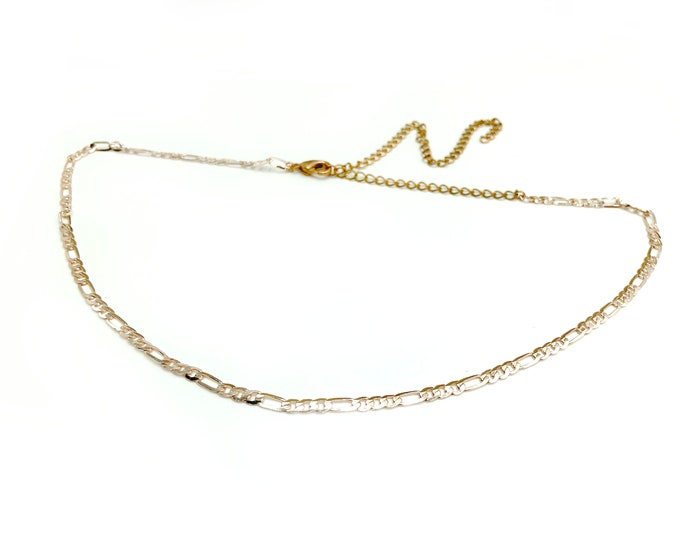 TESS: rose gold copper chain choker