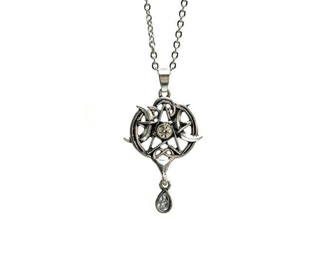 GODDESS: triple goddess moon pendant