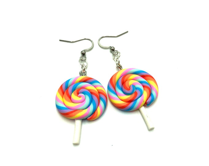 CANDY SHOPPE: lollipop resin earrings