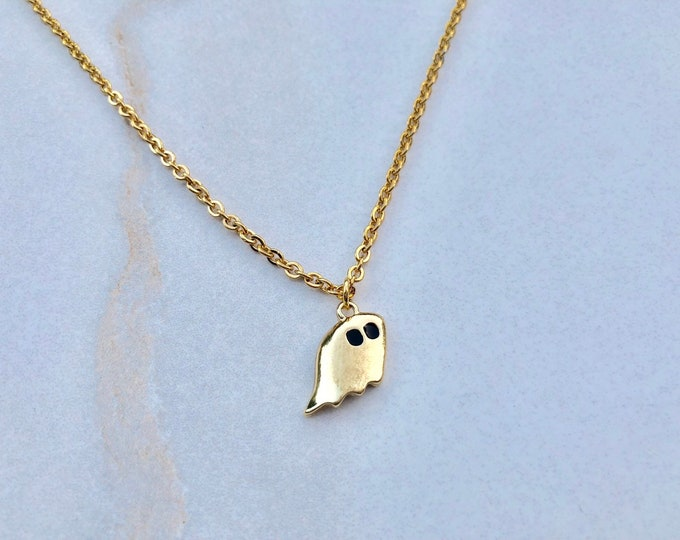 LIL GHOST: tiny ghost necklace