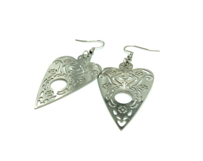 PLANCHETTE: ouija stainless steel earrings