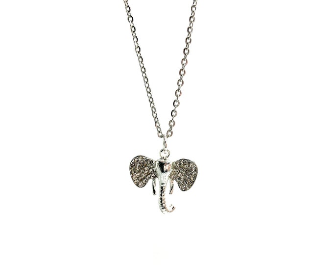 BABAR: bejeweled elephant necklace