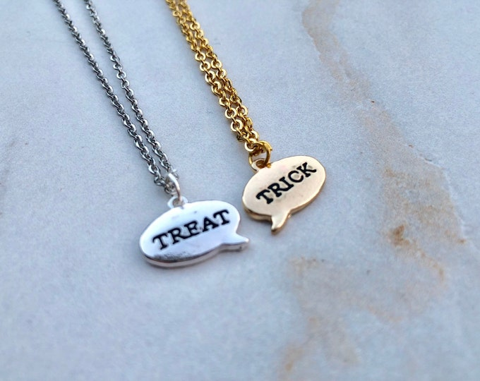 TRICK OR TREAT: halloween necklace set