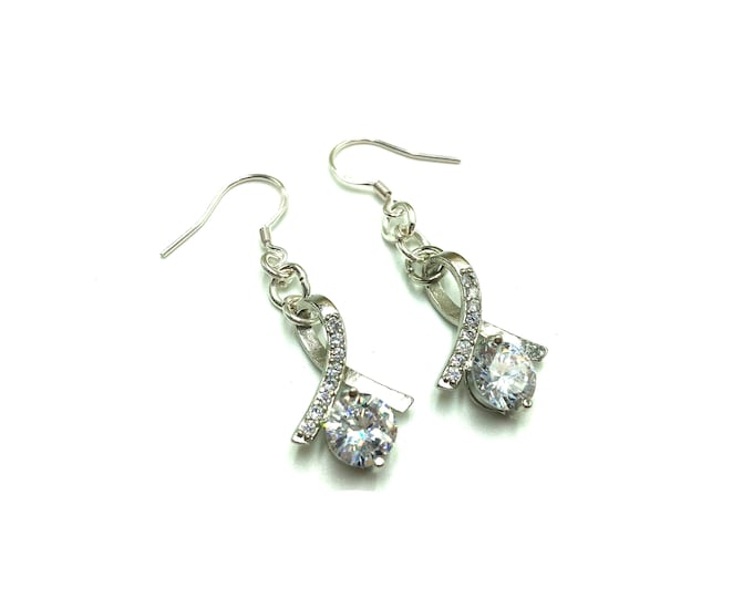 BEAU: glitzy cubic zirconia earrings