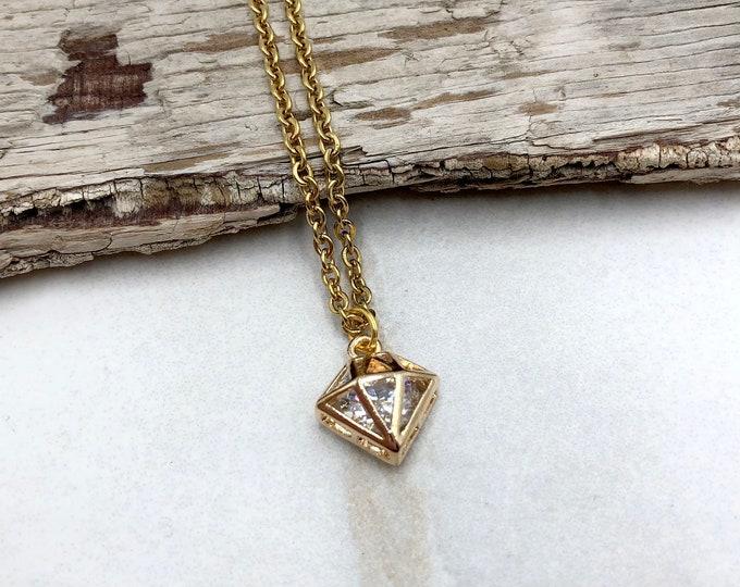 RICHES: faux diamond zirconia necklace