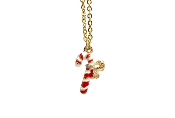 CANDY CANE: dainty candy cane necklace
