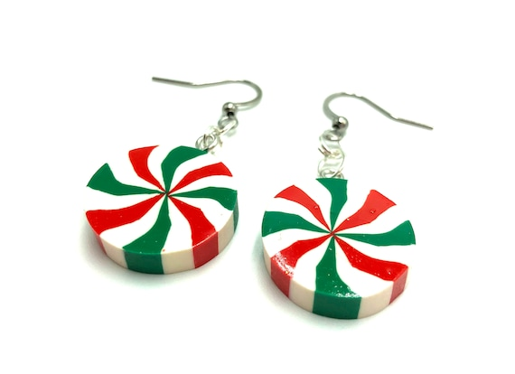 SPEARMINT: resin mint earrings