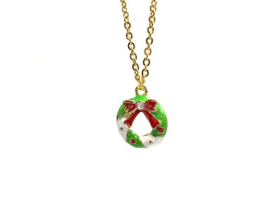 WREATH: delicate wreath necklace