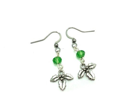 MISTLETOE: delicate mistletoe earrings
