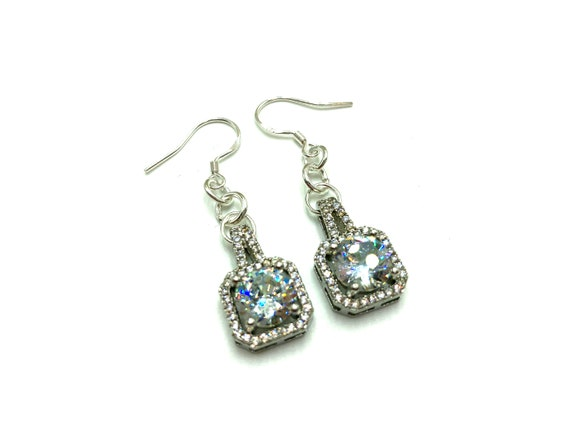 MARIAH: glitzy cubic zirconia earrings