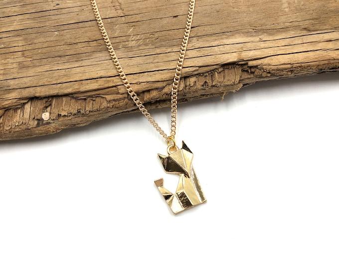 GEO FOX: gold tone necklace