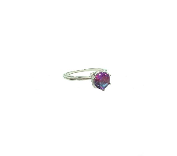 NATALIE: 925 sterling silver mystic topaz ring