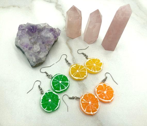 FRUITY: citrus slice earrings
