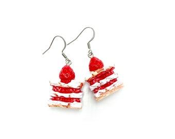 SHORTCAKE: cute strawberry shortcake earrings