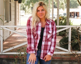 Thick Flannel Shirt Etsy