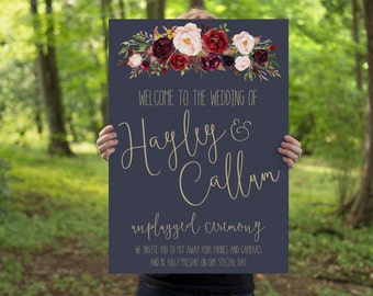 Unplugged Wedding Welcome Sign // Printable Welcome Sign // Unplugged Ceremony // Digital Download // The Lucy Suite