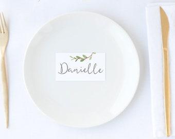 Botanical Wedding Placecards | Printable Name Cards | Table Cards | DIY Greenery Wedding |  Escort cards | BRIBIE