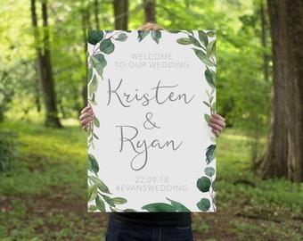 Wedding Welcome Sign | Printable Wedding Event Sign | Wedding Printable | Botanical Wedding | Digital Download | BRIBIE