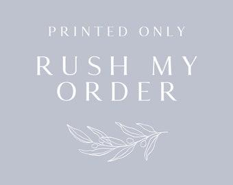 Printing Rush Fee | Printing Upgrade | Add on Listing