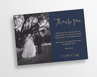 Thank you card | Wedding Thank you Card | Thank You | Printable Thank you Card | PRINTABLE PDF |  Lucy Suite