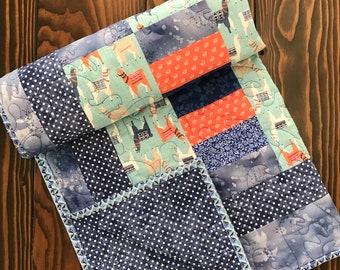 Handmade Baby Quilt-Llama Baby Quilt-Llama Nursery-Baby Boy Quilt-Baby Girl Quilt-Llama Baby Shower gift-Handmade Llama quilt-Crib Quilt