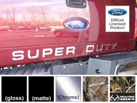 2019 Ford F250 F350 Super Duty hood grille Letters Decals Stickers CARIBOU COLOR