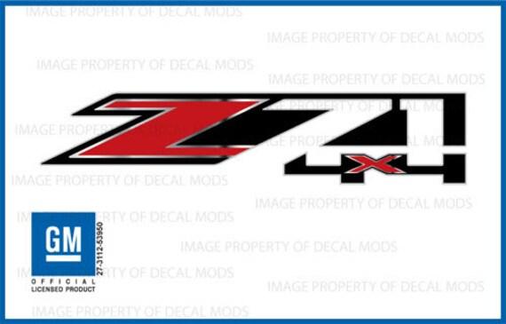 2X Chevy Z71 Off Road 2014-2018 Decals Silverado GMC Sierra Truck Vinyl Stickers