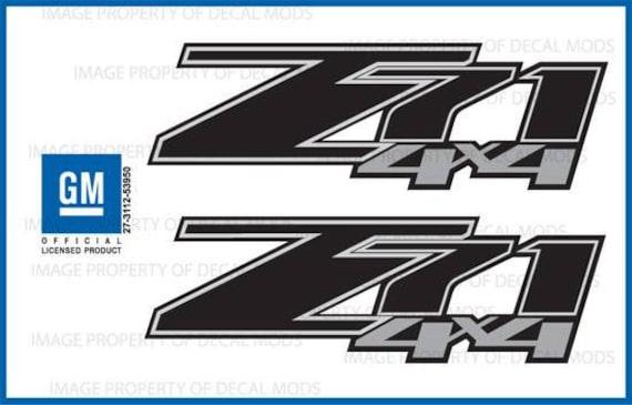 2-2014 Z71 Decals F stickers Parts Chevy Silverado GMC Sierra Truck Bed 4x4