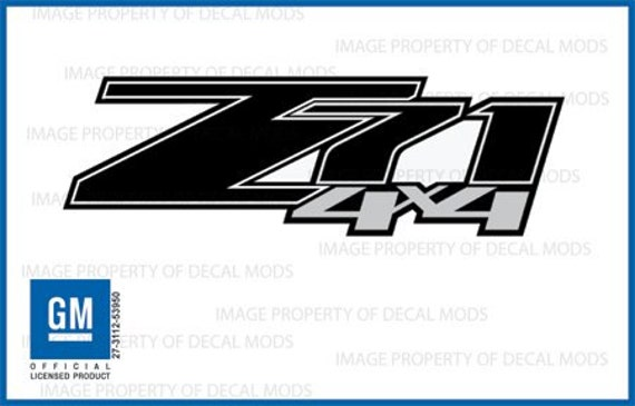 Chevy silverado gmc sierra z71 4x4 decals stickers black