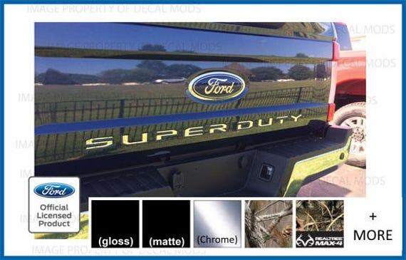 2-2017 Ford F250 F350 FX4 Off Road Decals Stickers FCFB Carbon Fiber Black