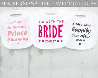 Flower girl bibs - baby flower girl - baby wedding bibs - baby girl wedding bibs - flower girl outfit - wedding baby outfit