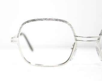 3afaaa047084 Shiny Combed Silver Eyeglasses Frame Vintage 1970 s Eye Glasses Hexagonal  Oval Lenses 50-20-135 Medium Size NEW Old Stock Nos FREE SHIPPING