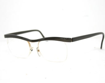 ecc0510507f3c Essel Arc 84 Eyeglasses Rimless Cat Eye Glasses Frame Genuine 50 s 60 s  France SYL 50-19-145 Medium Large FREE SHIPPING Nylor Style France