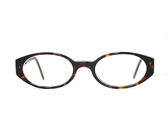 f610a008a7875 Emporio Armani Used Eyeglasses Oval Made in Italy Rx Prescription Eye  Glasses Oval w Case Retro Tortoise Shell 49-19-135 Medium Horn