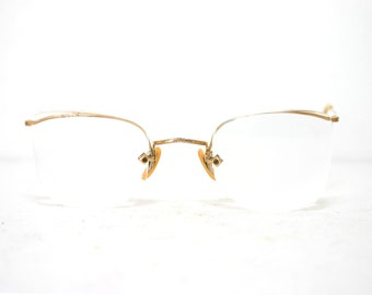 e8b908d0e3 Art Craft Arcway FulVue Stamped Eyeglasses Frame Spectacles 1 10 12k GF  Gold Filled 30s 40s Medium Antique Art Deco 44-24-135