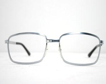 03fa21dfc44 Eyeglasses Vintage 60 s 70 s Silver Color Biker Eye Glasses Eyewear Large  FREE SHIPPING 56-18-140 1970 s Men s Old Car Cadillac Chrome