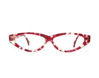 6a11b9306de2 Alain Mikli France Eyeglasses 0169 New Old Stock Red Translucent Frame  Vintage FREE SHIPPING Women s Men s Designer Glasses 80 s 1980 s NOS