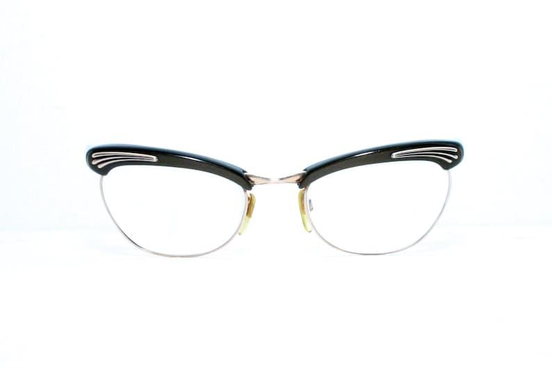 251bc55809c2 Rodenstock Cat Eye Glasses Tanja Brown 12k Gold Filled