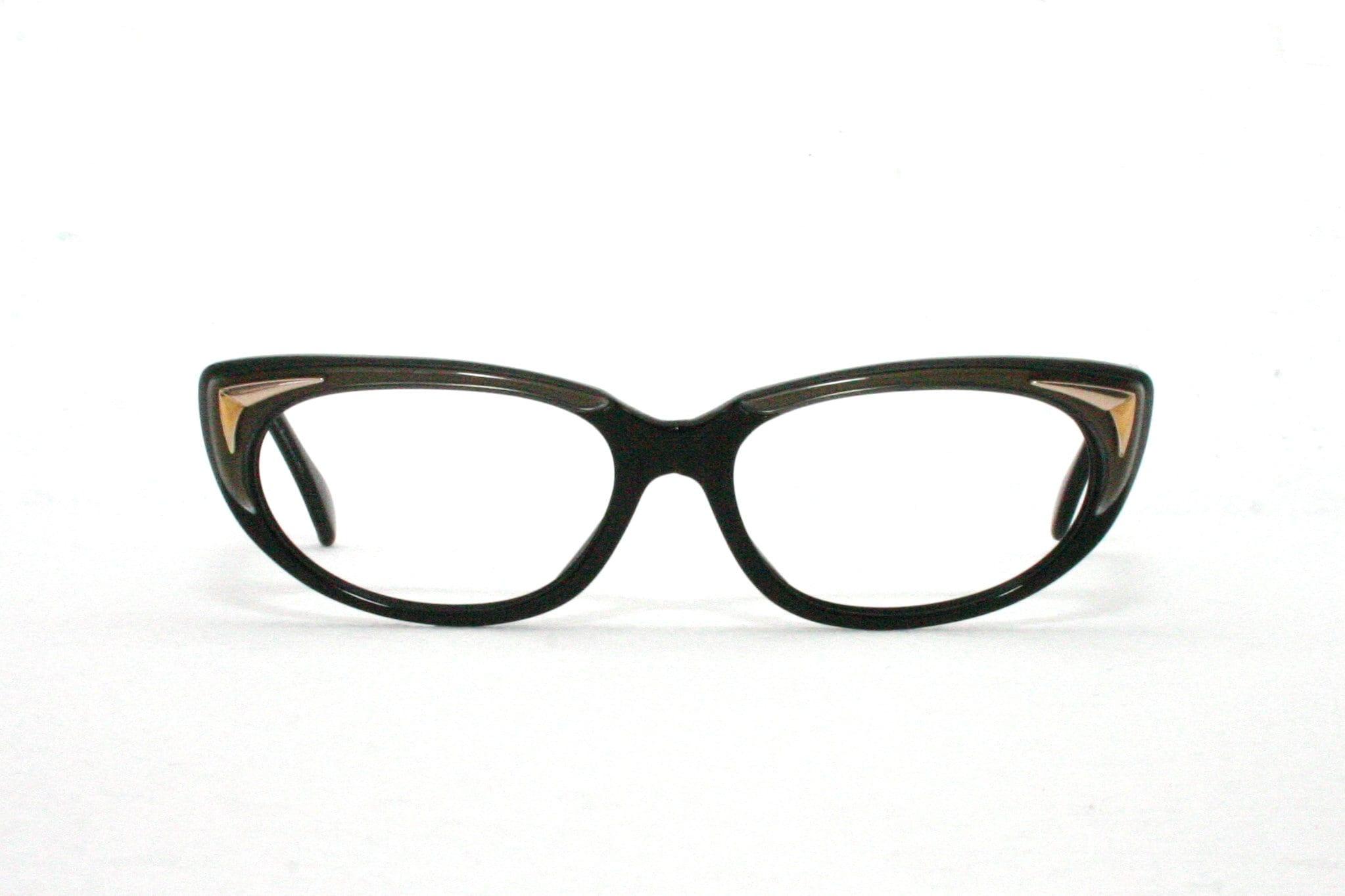 5da45d48b9 Metzler 60 s Cat Eye Sunglasses Small Size Vintage Black