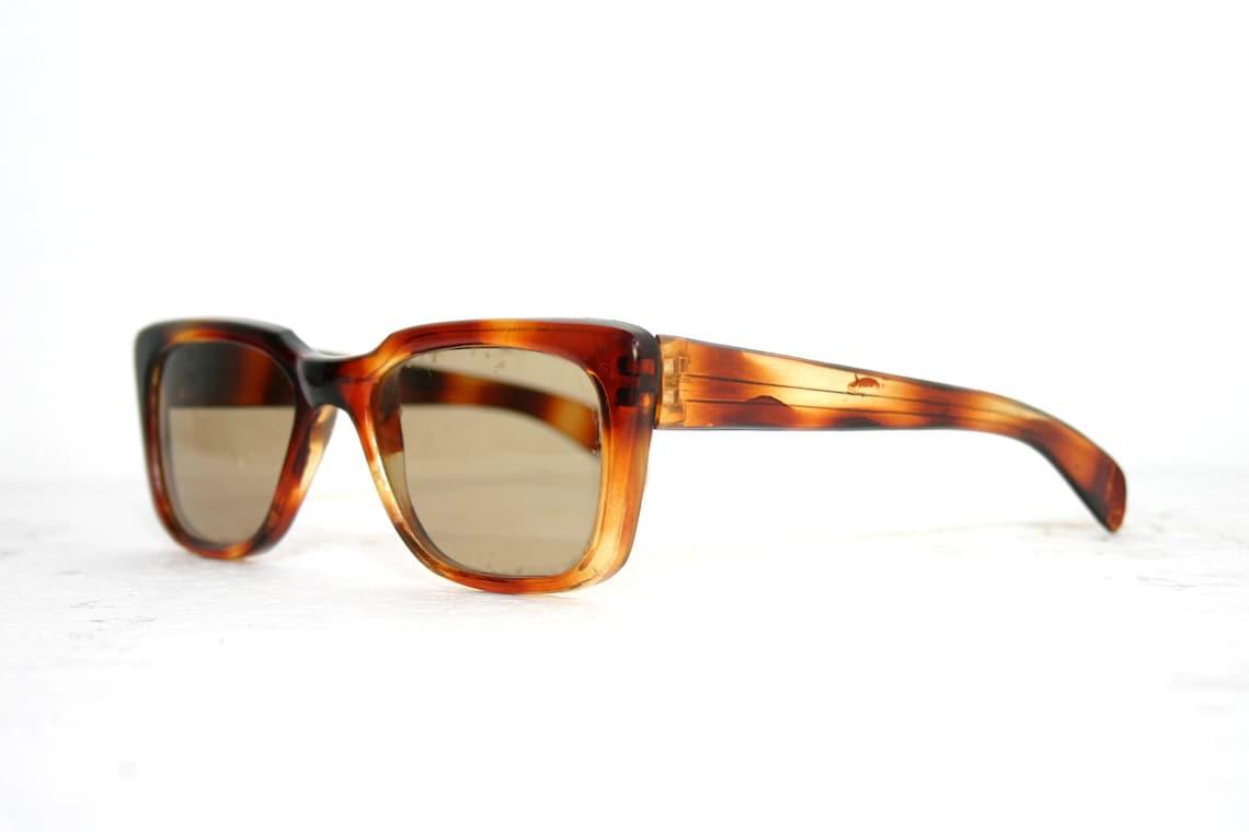 Sunglasses 1940's Brown Cat Eye Frame Handmade Plastic Historical Glass Lenses FREE SHIPPING Women Her Gift Idea Brown 40's Medium Large