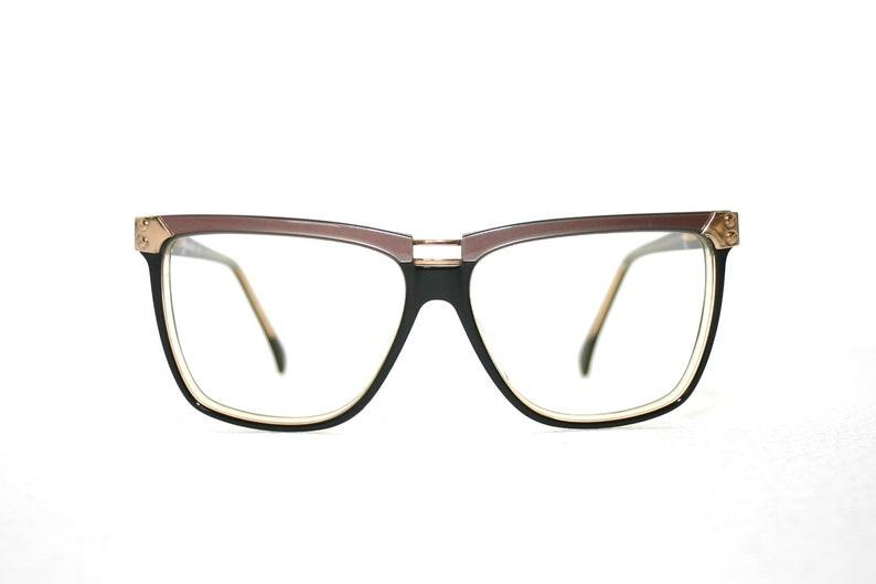 4fbd2d4511f 90 s Eyeglasses Menrad Designer Eye Glasses Frame Women s FREE SHIPPING  Medium Large Sized Oversized New Old Stock NOS Pink Black Gold