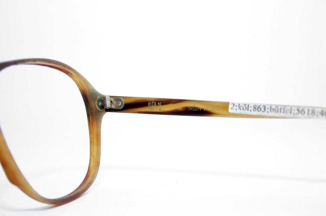 Irish Horn Eyeglasses Frame Aviator Handcrafted By Köln Optik FREE SHIPPING New Old Stock Large 58-14-140 NOS